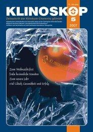 Klinoskop Nr. 5/2007 ( 2.7 MB im PDF - Klinikum Chemnitz