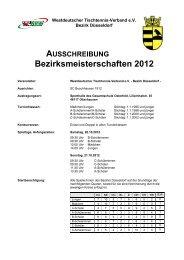 AUSSCHREIBUNG Bezirksmeisterschaften 2012 - WTTV