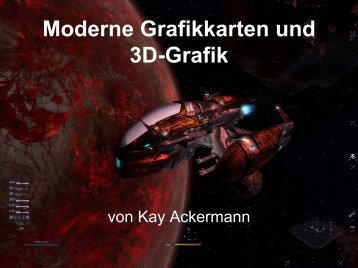 Moderne Grafikkarten und 3D-Grafik - Folien