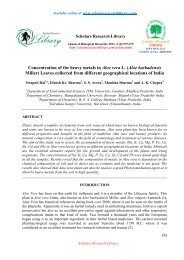 Concentration of the heavy metals in Aloe vera - Scholars Research ...