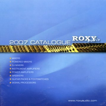Roxy Audio 2007 - FX-Music Group