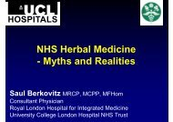 NHS Herbal Medicine - Myths and Realities - University Of Lincoln ...