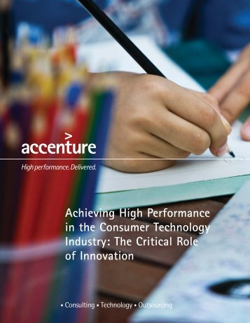 Achieving High Performance in the Consumer Technology Industry ...