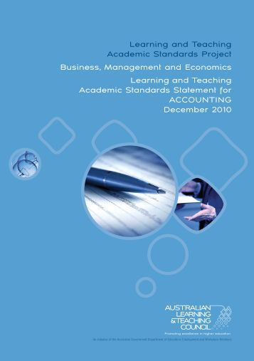 Learning and Teaching Academic Standards Project Business ...