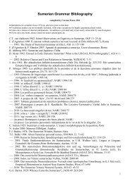 Sumerian Grammar Bibliography - Carsten Peust