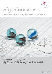 Jahresbericht 2009/2010 - Wirtschaftsförderung Kreis Soest