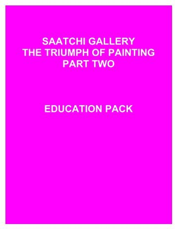 Education Pack - Saatchi Gallery