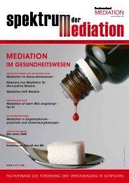 Spektrum der Mediation 35 - Bundesverband Mediation eV