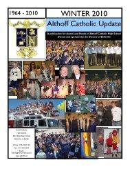 Althoff Catholic Update WINTER 2010 - Althoff Catholic High School