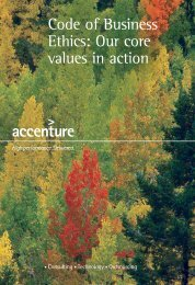 Code of Business Ethics: Our core values in action