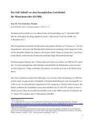 Der Fall Althoff vor dem Europäischen Gerichtshof für Menschenrechte