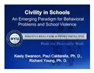 Civility in Schools - McKay School of Education