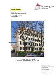 2-Zimmer Altbau Eigentumswohnung in Freiburg-Wiehre zu verkaufen