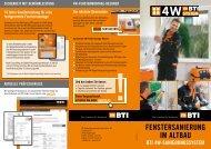FenstersanierunG im altBau Bti 4W-sanierunGssystem