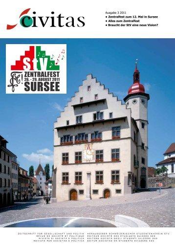 Ausgabe 3 2011 • Zentralfest zum 12. Mal in Sursee ... - Schw. StV