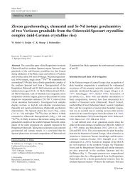 Zircon geochronology, elemental and Sr-Nd isotope geochemistry of ...