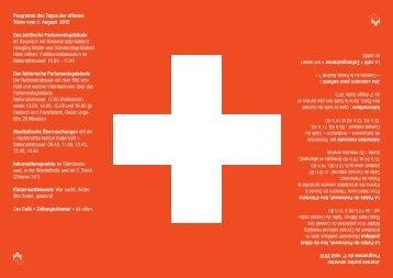Flyer 1. August 2012 - Das Programm