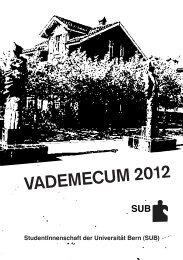 VADEMECUM 2012 - sub.unibe.ch - Universität Bern