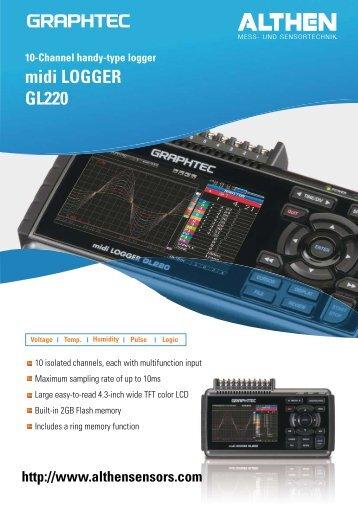 Datasheet Datalogger GL220 - Althen GmbH