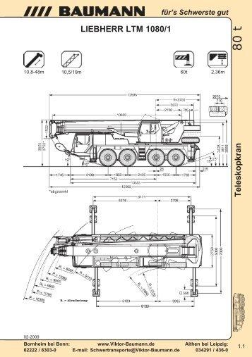 LIEBHERR LTM 1080/1 - Baumann