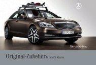 Original-Zubehör für die S-Klasse. - Mercedes