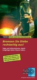 Bremsen Sie Diebe rechtzeitig aus! - Polizei Bayern