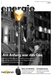 Am Anfang war das Gas - Regio Energie Solothurn