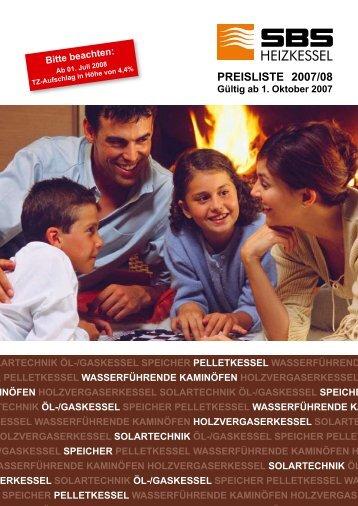 Preisliste 2006 - SBS Heizkessel GmbH