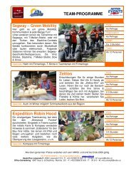 TEAM-PROGRAMME Zeitlos Expedition Robin Hood - AlpenParks