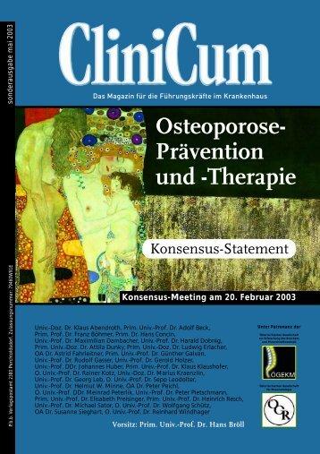 Osteoporose- Prävention und -Therapie - Medizin Medien Austria