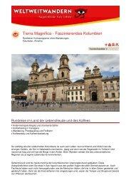 Tierra Magnifica - Faszinierendes Kolumbien - Weltweitwandern
