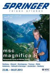 msc magnifica - Springer Reisen