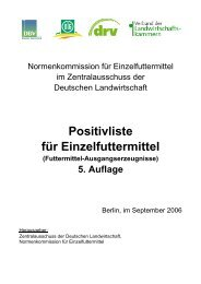Positivliste für Einzelfuttermittel (Futtermittel ... - Provieh