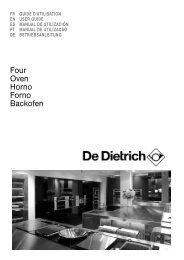 Compatible De Dietrich Oven Upper Top Grill Element
