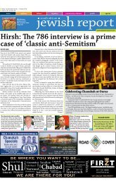 Hirsh: The 786 interview is a prime case of 'classic anti-Semitism'