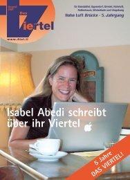 Isabel Abedi schreibt über ihr Viertel - Redaktionsbüro Mark Bloemeke