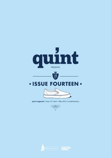 quint magazine | issue 14 | April - May 2012 | complimentary