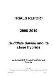 TRIALS REPORT - Royal Horticultural Society