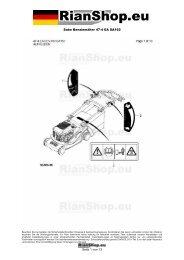 Sabo Benzinmäher 47-4 EA SA162 Seite 1 von 13 - RianShop.eu
