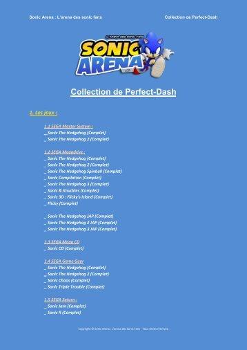 Collection de Perfect-Dash - Sonic Arena