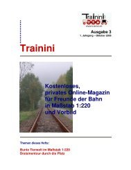 Trainini – Ausgabe 3 - Z Club 92