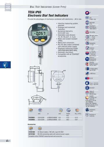 Three Axis Electronic Test Indicators : Din see table