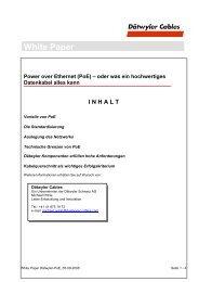 White Paper Power over Ethernet (PoE) - Dätwyler
