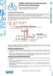 COMpact 3000 VoIP als Konferenzsystem für Auerswald ... - Eno