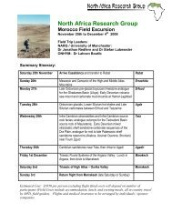 Morocco Field Excursion 2006 V2.pdf - North Africa Research Group