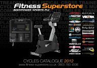 CYCLES CATALOGUE 2012 - Fitness Superstore