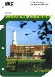 BBC Huntorf Air-Storage Gas Turbine Power Plant - E.ON-Kraftwerk ...