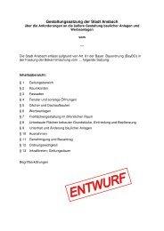 Gestaltungssatzung - Ausarbeitung - geänderte ... - Stadt Ansbach