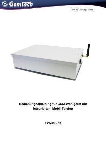 Bedienungsanleitung für GSM-Wählgerät mit integriertem Mobil ...