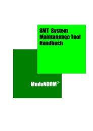 Handbuch Maintanance Tool SMT System ModuNORM - Mikrap AG